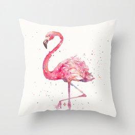 A Flamingos Fancy Throw Pillow