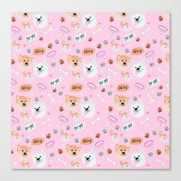 Yato Pups Yato pink themed Canvas Print