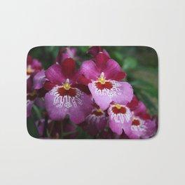 Tropical Flowers Orchids Bath Mat