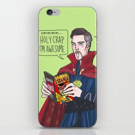 Doctor Strange reading Doctor Strange iPhone Skin