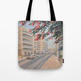 Eilat street Tel aviv_ Oil on canvas Tote Bag