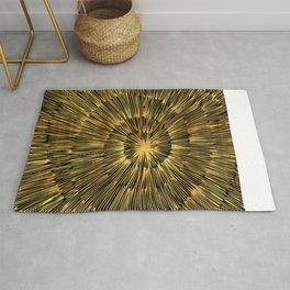 gold spiral Rug