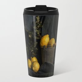 Cassic still life with lemons Travel Mug