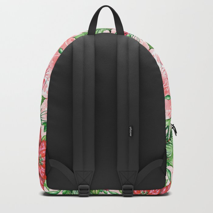 Poinsettia & Candy cane Backpack