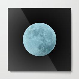 BLUE MOON // BLACK SKY Metal Print