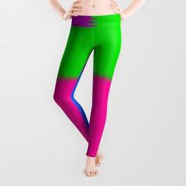 QUARTERS #1 (Purple, Fuchsia, Blue & Green) Leggings