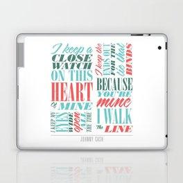 Walk the Line Laptop & iPad Skin