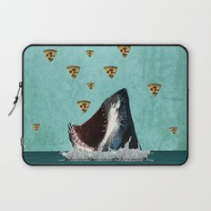 Pizza Shark Print Laptop Sleeve