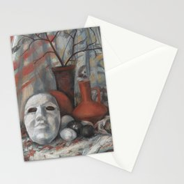 Still life with the mask Stationery Cards