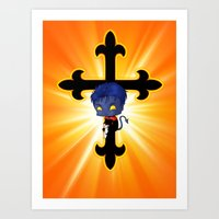 nightcrawler Art Prints featuring Chibi Nightcrawler by artwaste
