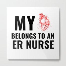 ER nurse Metal Print