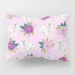 Maltese dog breed florals pattern cute gifts for dog lovers by pet friendly Pillow Sham