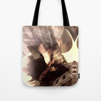 text Tote Bags featuring TEXT. by Amelia Temple
