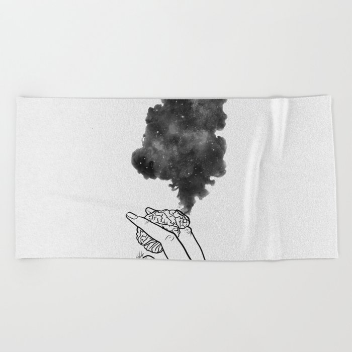 Burning mind. Beach Towel