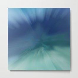 Blue meets Green Abstract Metal Print
