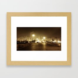 ...and all the lights that lead the way are blinding... Framed Art Print