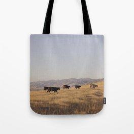 Western Cattle Art Tote Bag