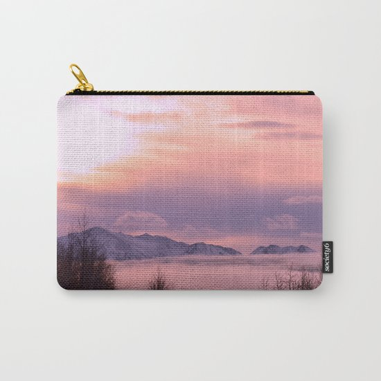 Rose Serenity Winter Fog Carry-All Pouch