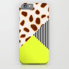 Cheetah Leo stripe and neon Slim Case iPhone 6s