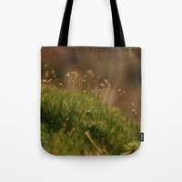 moss Tote Bags featuring Moss by A Wandering Soul