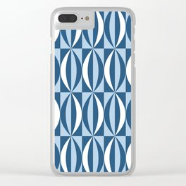 Vintage blue segments Clear iPhone Case