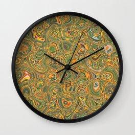 Green and Yellow Wall Clock