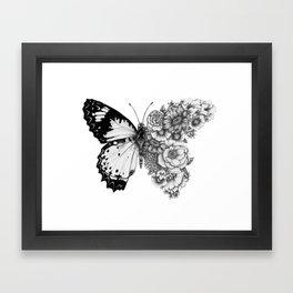 Butterfly in Bloom Framed Art Print