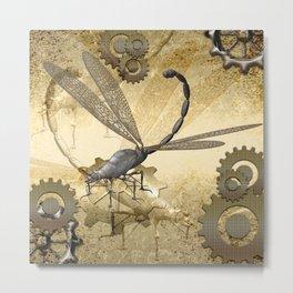 Steampunk, dragonflies Metal Print
