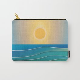 The sun comes and goes but the waves remain Carry-All Pouch