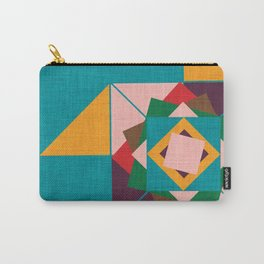 wind rose teal Carry-All Pouch