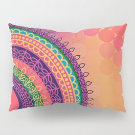 Ethnic Mandala on geometric pattern Pillow Sham