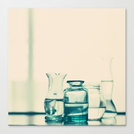 Crystal jars and bottles (Retro and Vintage Still Life Photography) Canvas Print