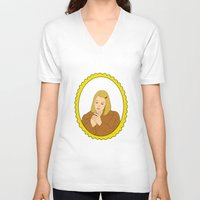 tenenbaum V-neck T-shirts featuring Margot Tenenbaum by Whiteland