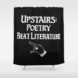 Poetry and Beat Generation Literature Shower Curtain