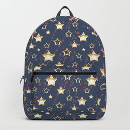 Gold star. Backpack