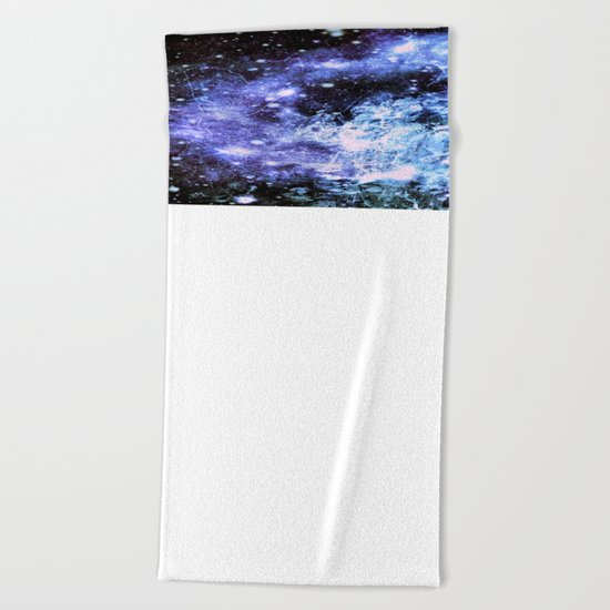 Chaotic Space : Galaxy Periwinkle Blue Lavender Gray Beach Towel