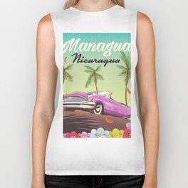 Managua - Nicaragua travel poster. Biker Tank