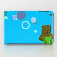 scuba iPad Cases featuring Scuba Bear by jason sharpe