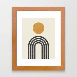 Mid century modern gold Framed Art Print