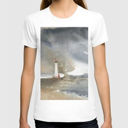 Storm over Crisp Point Lighthouse T-shirt