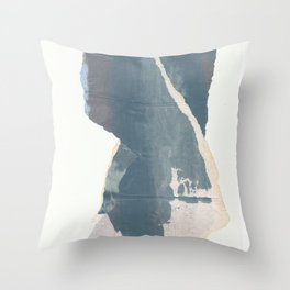 The back view of elegance lady Throw Pillow