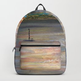 Boat and Bird in Oil Pastels Backpack