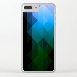 Blue Delight Clear iPhone Case