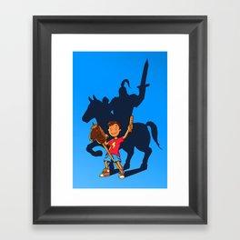 Knight in Shining Armor Framed Art Print