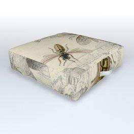 Naturalist Bee And Wasps Outdoor Floor Cushion