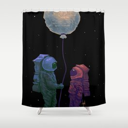 I'd give you the moon... Shower Curtain