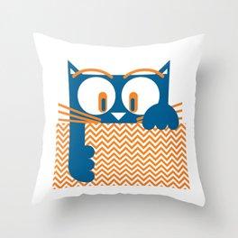 Gato II by Christian Montenegro Throw Pillow
