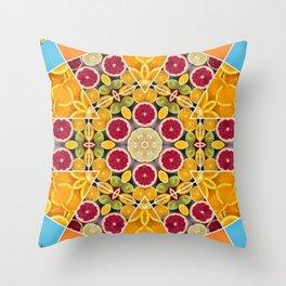 splash of citrus sangria Throw Pillow