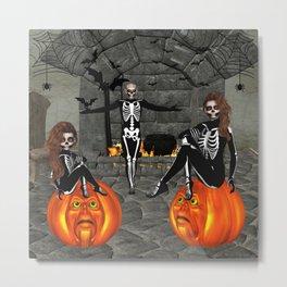 Elfish Skeletons Home Sweet Home Metal Print