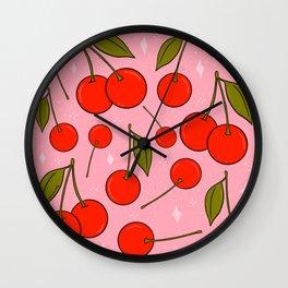 Cherries on Top Wall Clock